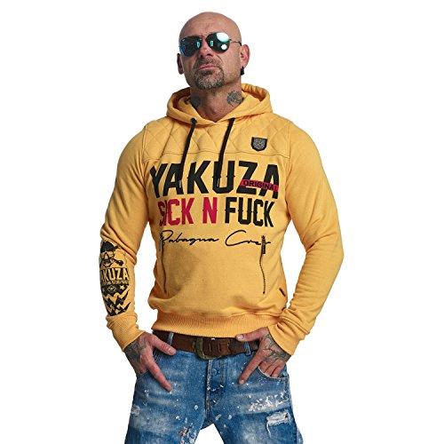 Yakuza Original Herren Sick N Fuck Hoodie Kapuzenpullover Warm Apricot