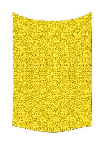 Vine Grafiken (Dekor Gelb Tapisserie Modern Blatt Ast Abstrakt Ivy Vines Muster Artwork mit Blumen wie Kunst Kreise Wand Aufhängern für Schlafzimmer Wohnzimmer Wohnheim gelb, multi, 39.3W By 59L Inch)