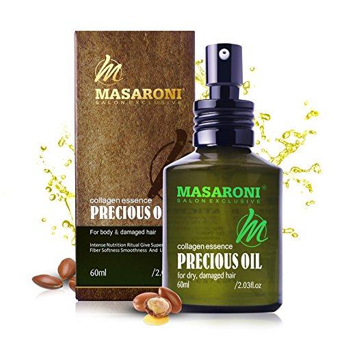 Masaroni Huiles essentielles marocaines à l'huile d'argan pour les cheveux de la peau et du corps Soin hydratant pour les ongles 15 ml