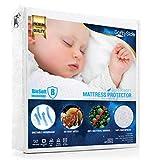 SoftySide Coprimaterasso Impermeabile Lettino - In Microfibra, Super Morbido, Con Trattamento BIO-Soft (60x120 cm) - Antibatterico, Antiacaro, Anallergico, Traspirante Garantito 100 Lavaggi