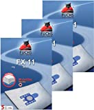 3 Pakete FXpro 11: 15 Staubsaugerbeutel, 3 Luftfilter, 3 Motorfilter für Miele Cat & Dog, Tango Plus, S 241 bis S 256 i, S 290 bis S 299 i, S 300 i bis S 399 i, S 4000 bis S 4999, S 500 bis S 599, S 700 bis S 799, S 4