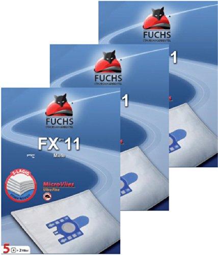 Preisvergleich Produktbild 3 Pakete FXpro 11: 15 Staubsaugerbeutel, 3 Luftfilter, 3 Motorfilter für Miele Cat & Dog Tango Plus S4 S 241 - S 256 i, S 290 - S 299 i, S 300 i - S 399 i, S 4000 - S 4999, S 500 - S 599, S 700 - S 799, S 4 Parkett