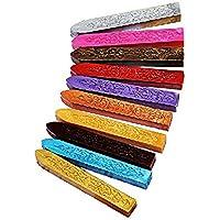 LEORX Sello de Cera Tallado Antiguo Sellado Palillos Para Sello de Cera Vintage 10 Colores