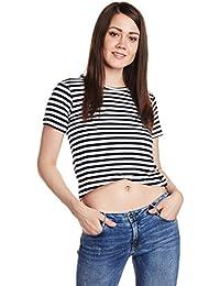 Flying Machine Women's Striped T-Shirt