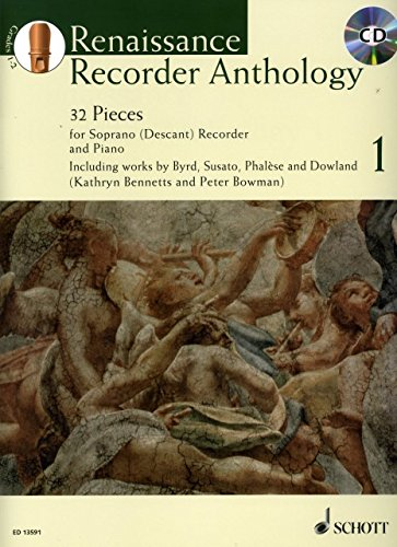 Renaissance Recorder Anthology 1 - arrangiert für Sopranblockflöte - Klavier - mit CD [Noten /...