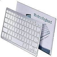 لوحة مفاتيح وسائط متعددة لاسلكية رفيعة للغاية جيدة لجهاز Windows XP/7/8/10 / Vista/Mac OS ، لباد برو (9.7/12.9) / 1/2/3/4 أبيض [آمن]