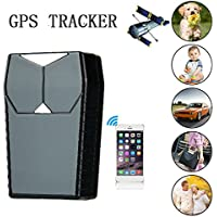 Hangang Mini GPS Tracker for children kids/ Car / Pets/Parents, Waterproof GPS Location Tracking Device GSM GPRS SMS Mobile Anti lost track SOS Panic Button free tracking platform TK1000 (GPS T)