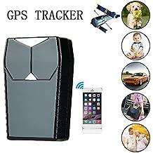 Hangang GPS Tracker, GPS per auto impermeabile / GSM / GPRS, Mini tracker magnetico portatile nascosto per veicolo antifurto e bambini / anziani / personale