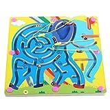 Toy*dfgh  Juguete descompresivo de la Bola de Madera del Rompecabezas de los niños del Laberinto magnético MG Juguete del Laberinto del Rompecabezas de la Tabla de Madera 0502 ( Pattern : A )