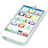 cooplay Blanco 1: 1, como iPhone 5S Música Juguete yphone Y-PHONE Play móvil teléfono celular teléfono móvil con cable USB de recharable para bebé Kids conjuntos de 1
