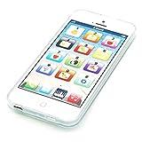Cooplay English blanco 1: 1 Juguete de la música yphone y-phone Play Teléfono móvil teléfono celular teléfono móvil con USB cable recargables para bebé Niños Conjuntos de 1