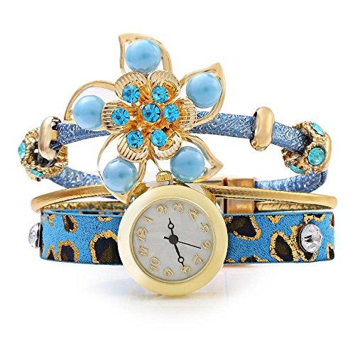 leopard-shop-weiblich-quarz-armbanduhr-vogue-bohemian-schmuck-poly-urethan-band-hellblau