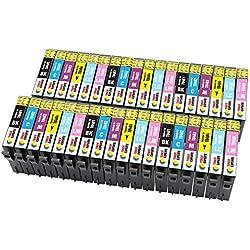 TONER EXPERTE® 36 XL Cartouches d'encre compatibles avec Epson T0487 pour Imprimantes Epson Stylus Photo R300 R220 RX620 R340 RX500 RX600 R320 RX640 R200 R330 R350 RX300   Grande Capacité