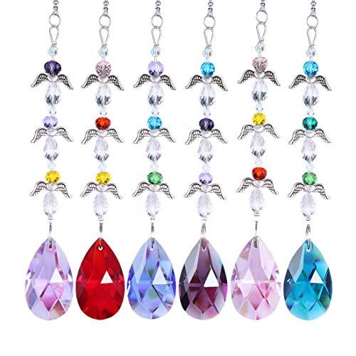 Desconocido H&D - Atrapasueños de Cristal para Colgar en la Ventana, diseño de arcoíris, Color4-set6