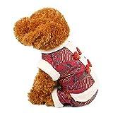 LOVEPET Herbst- Und Winterhaustierkostüm Hundekleidung Tang-Anzug Aus Vierbeinigem Baumwollmantel Haustierzubehör Thai-Dubai-Kleidung Katze Kleidung