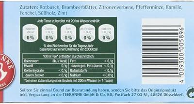 Teekanne - 8 Kräuter, 20 Doppelkammerbeutel, 4er Pack (4 x 40 g Packung) von Teekanne bei Gewürze Shop