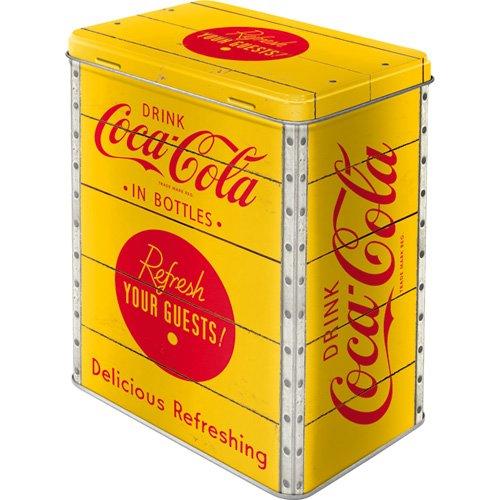 Nostalgic-Art 81882 Coca-Cola - Logo Yellow, Vorratsdose L