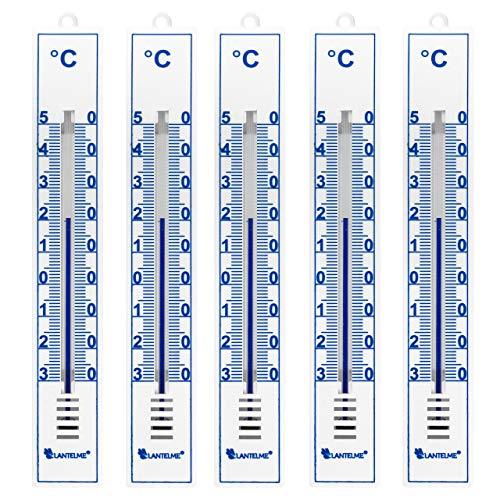 nen Außen Garten Thermometer Set Analog Kunststoff Gartenthermometer Weiss 4086 ()