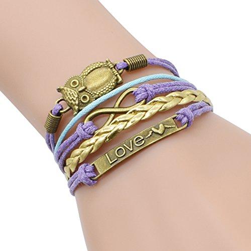 temps-usurier-retro-bronze-chouette-deux-coeurs-amour-unique-reglable-tresse-bracelet