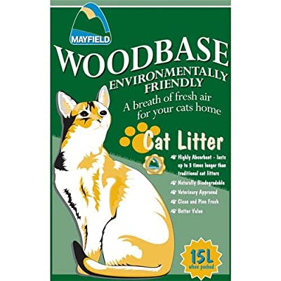 Mayfield Woodbase Natural Cat Litter from Mayfield