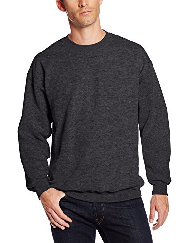 Hanes Men's Ultimate Heavyweight Fleece Sweatshirt, Charcoal Heather, X-Large (Hanes Sweatshirt Schwarz Crew)