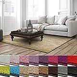 casa pura Shaggy Teppich Barcelona | weicher Hochflor Teppich für Wohnzimmer, Schlafzimmer, Kinderzimmer | GUT-Siegel + Blauer Engel | Verschiedene Farben & Größen | 200x240 cm | Beige
