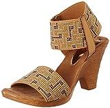#6: Catwalk Tan Heeled Sandals for Women's