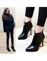 GTVERNH-El otoño y el invierno botas de mujeres talón y tacón Martin botas Ingles