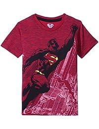 Superman Boys' Plain Regular Fit T-Shirt