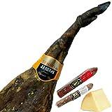 Lote Jamon Iberico Etiqueta Oro Pata Negra Jabugo 7,5-8 kgs + Queso + Embutidos