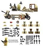 Magma Brick: Serie della guerra mondiale Forza britannico l'arm, l'bunker, l'arma scatole, l'filo spinato e l'zaini per personalizzare le minifigure LEGO