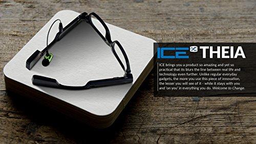 ICE Theia Wearable vidrios Video de la cámara con Auriculares Bluetooth y Safe Drive Assist