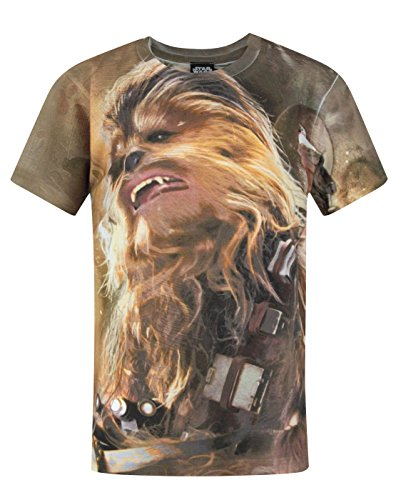 Star Wars Official Star Wars Force Awakens Chewbacca Sublimation Boys T-Shirt (3-4 Years)