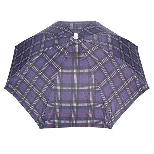 Generic Fishing Hiking Women Men Kid Sunshade Foldable Umbrella Hat Cap-Color 3