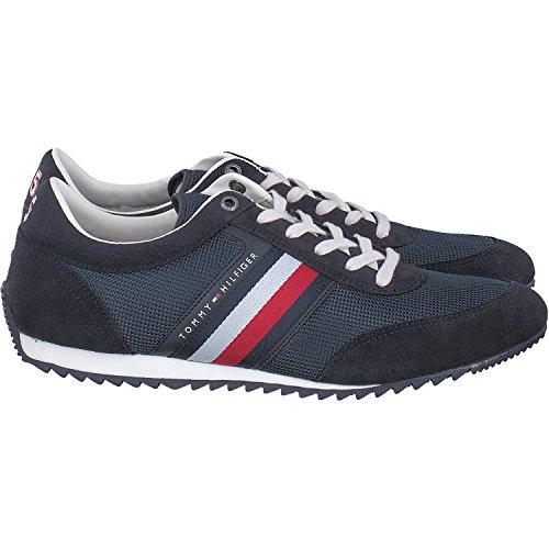 Tommy Hilfiger Herren Corporate Material Mix Runner Sneaker Blau (Midnight 403)
