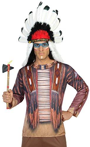 ATOSA 9651 Kostüm Zubehör, Herren, mehrfarbig, Größe M-L (Indianer Krieger Kostüme Für Erwachsene)