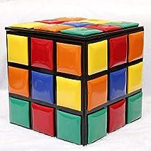 QTQZDD Heces de Almacenamiento Creativo,Madera sólida del Cubo de Rubik Zapatos niños pequeño Banco