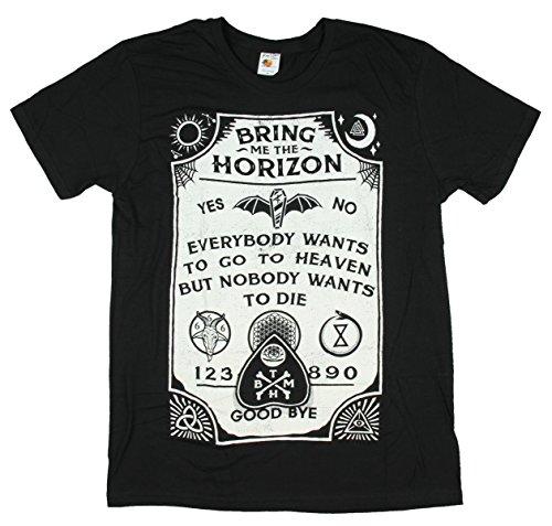 Greucy-dark Adult Bring Me The Horizon Ouija Board Black Slim Fit T-Shirt
