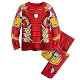 Pyjama Garçons Avengers Super-héros Iron Man Pyjama Spiderman (Rouge, 6T(130))