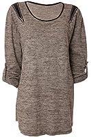 Oversize Pullover mit Chic Nieten Strass Print