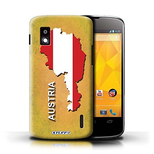 Kobalt® Imprimé Etui / Coque pour LG Nexus 4/E960 / Suisse/Swiss conception / Série Drapeau Pays Autriche