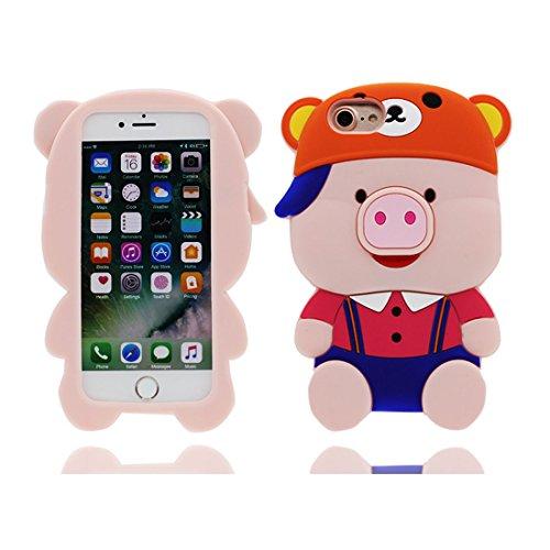 "Apple iPhone 6s Plus Coque Housse, TPU Gel Shell pour les filles Shell Cover iPhone 6 Plus / 6S Plus étui 5.5"" [ Cute 3D Cartoon chocolat] Anti-rayures-anti-rayures # 8"