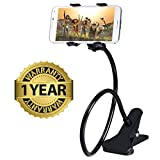 #3: MacBerrymobile phone holder with 360° Rotation | New design clip | non slip base | Flexible arm | can be used in Car , on bed , table , bathroom , kitchen etc