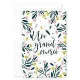 8 Cartes Remerciement avec 8 Enveloppes de couleur • Format pratique 10x15 cm • Verso vierge pour écrire • Design Original au Style Champêtre • Popcarte (Autocollante)...