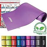POWRX 400079 Tapis pour yoga/pilates/gymnastique Violet 190 x 100 x 1,5 cm