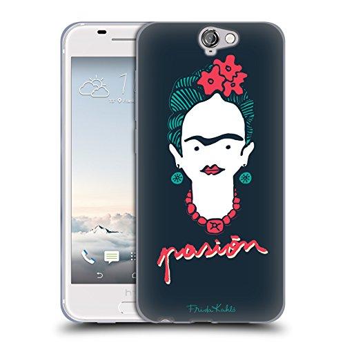 Offizielle Frida Kahlo Passion Doodle Soft Gel Hülle für HTC One A9