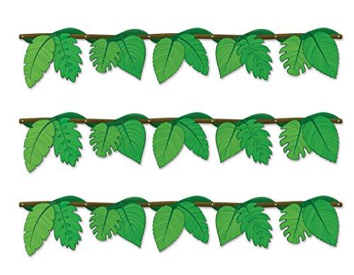 Beistle s54921az3, 3Stück Jungle Vine Girlanden, 123,2cm