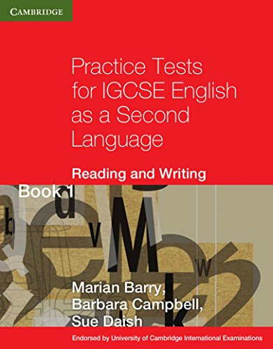 Practice tests for IGCSE. English as a second language: reading and writing. Per le Scuole superiori. Con espansione online: 1 (Cambridge International IGCSE)