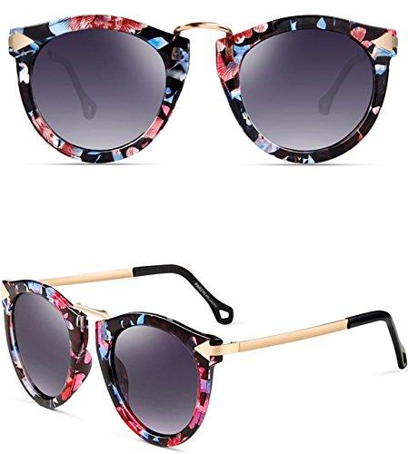 ATTCL Damen Vintage Mode Polarisiert Sonnenbrille Damen 11189 Floral