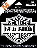 Harley-Davidson Aufkleber B&S Mittel Silber - D3023C